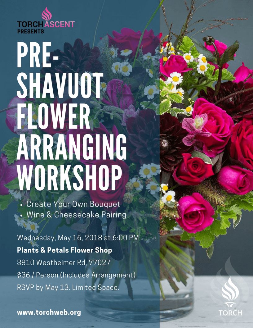 045c16b323f Pre-Shavuot Flower Arranging Workshop